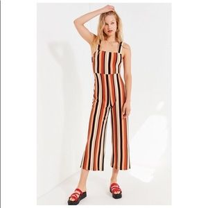 UO Delany Straight Neck Striped Jumpsuit